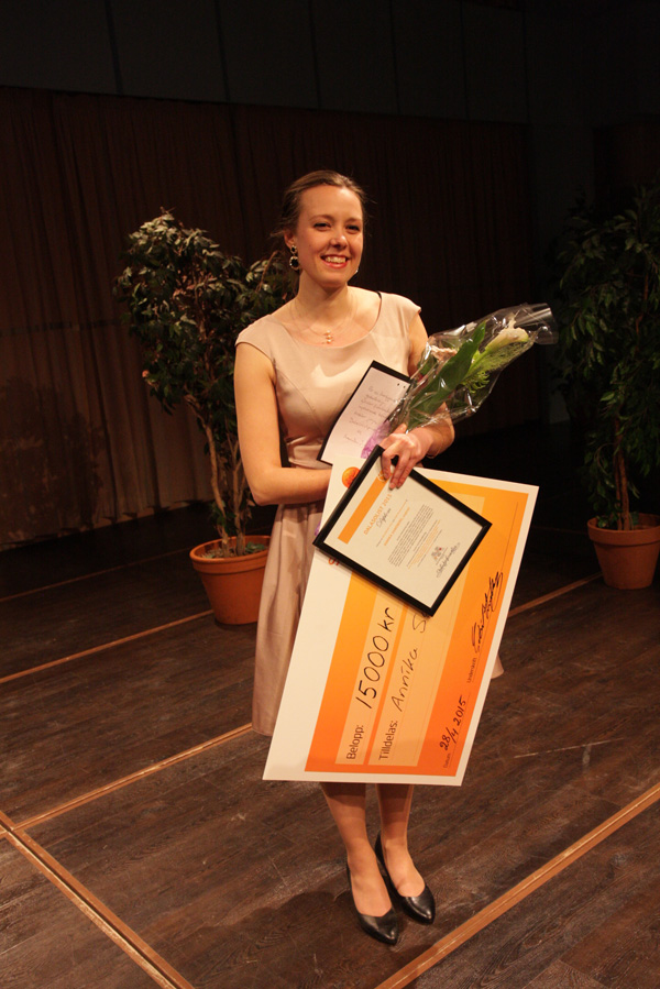 Annika Sandberg, vinnaren av Dalasolist 2015