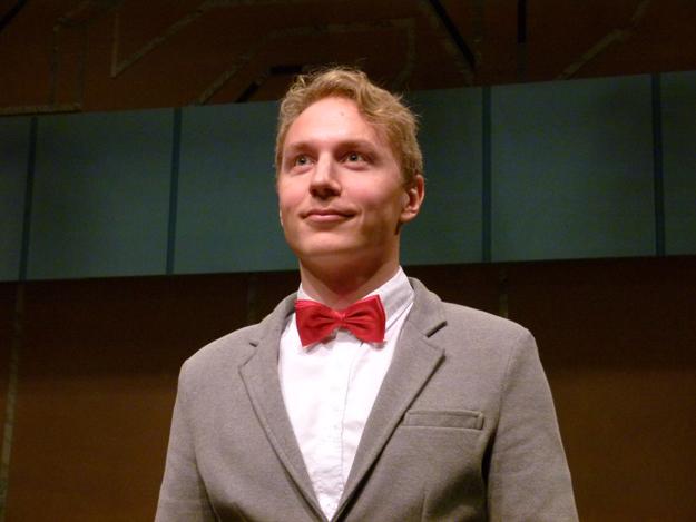 Kvällens konferencier var producenten vid MiD, Gustaf Elemelid