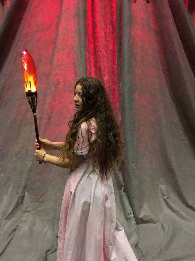 Valentina Smeds i Musikkonservatoriets uppsättning av operan Prosperin av J M Kraus